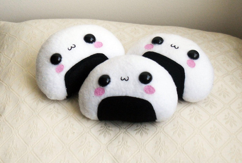 KAWAII ONIGIRI PLUSH Super Cute Kawaii Onigiri By TomoIsland
