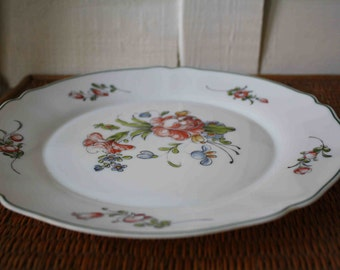 vintage French plate, Arcopal, French decor, milk glass plate, spring decor