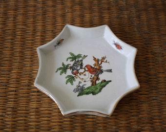 SALE, vintage bird dish, aviary, trinket dish,