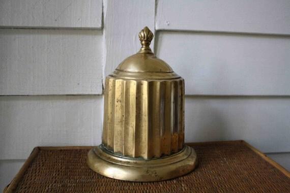 brass column bookend