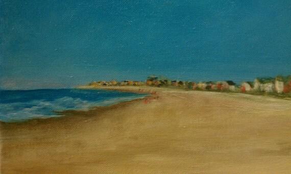 SALE - Barefoot Beach Walk, Beach Art - Original Fine Art Acrylic Painting - Heather Gillmer