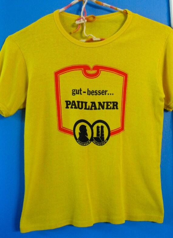 Vintage Yellow Paulaner Beer Shirt