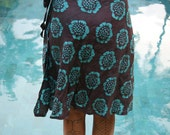 Short Wrap Skirt 100% Cotton Batik