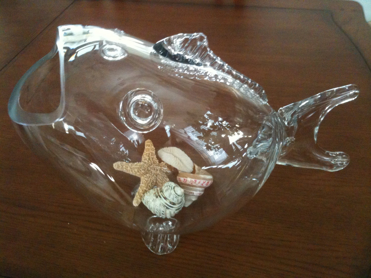 Large fish bowl vase centerpiece by coastalpassion on etsy