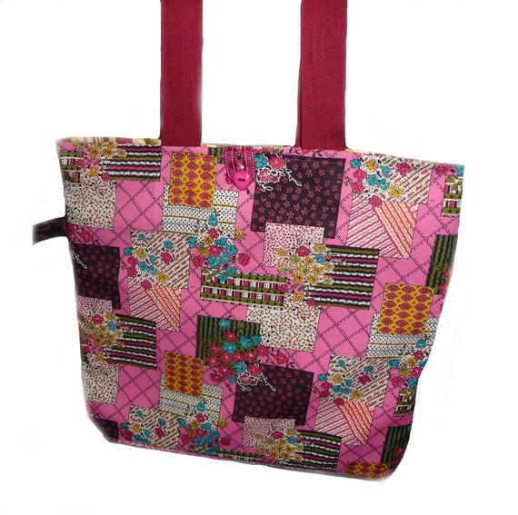Bright Pink Patchwork Bag - Sale