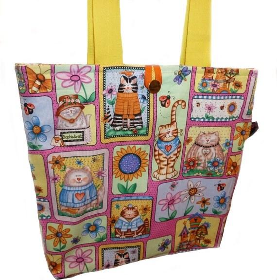 Bright and Fun Cats Tote Bag - SALE