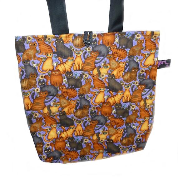 Folk Art Cats Shoulder Bag