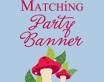 Matching Printable Party Banner DIY