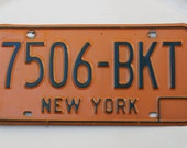 New York License Plate--between 1973 and 1986