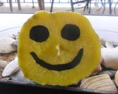 Sand Candle, Smiley Face, OOAK, Hand Poured Candle, Ready to Ship