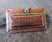LARGE Pet - Pet Tag - Pet ID Tag/ tag/ Tags/Dog Tag Copper, Nickel or Brass Dog Tag/Tags Pet Accessories Personalized