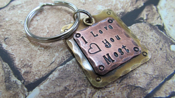 Christmas Keychain - Personalized Gift - Mothers Day Gift -  Fathers Day Gift - Accessories - Anniversary Gift - Engraved - Hand Stamped