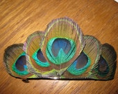 Large Peacock Feather Barrette