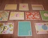 Handmade Monogram Cards