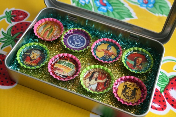 Viva Mexico Magnet Set- Gifts Under 20- Mexican Kitsch