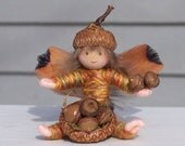 Acorn Faerie, Acorn Fairy, Natural, Woodsy, Woodland, Harvest Gold, Amber, Autumn