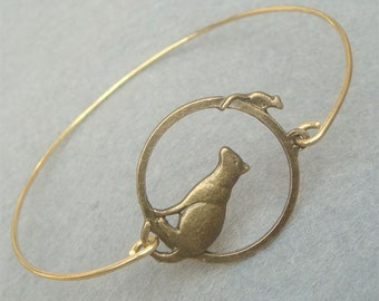 Mouse and Cat Bangle Bracelet