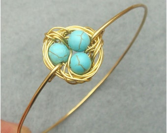 Turquoise Nest Bangle Bracelet
