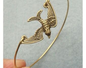 Swallow Bangle Bracelet