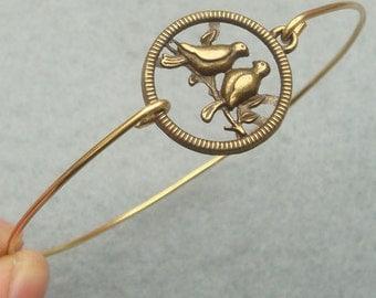 Birds Bangle Bracelet