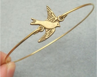 Flying Bird Bangle Bracelet