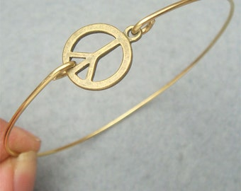 Peace Bangle Bracelet