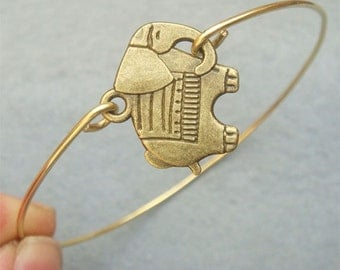 Elephant Brass Bangle Bracelet Style