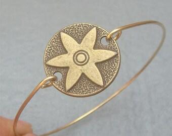 Sun Flower Bangle Bracelet