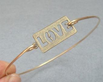 Love  Bangle Bracelet Style 3