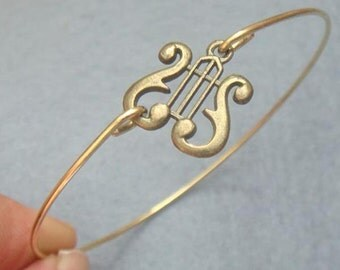 Harp Bangle Bracelet