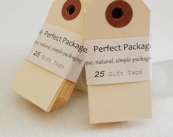 Gift Tags Set of 25 Manila Paper Mini Tags Hang Tags Retail Tags Decorative Tags