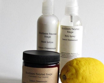 Bath Set - Lotions and Body Spray - Set of Three - Christmas Gift - Secret Santa