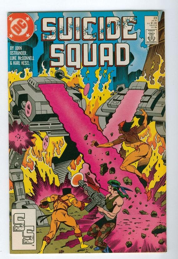 Vintage Comic Book Suicide Squad January 1989 No 23 DC Comics