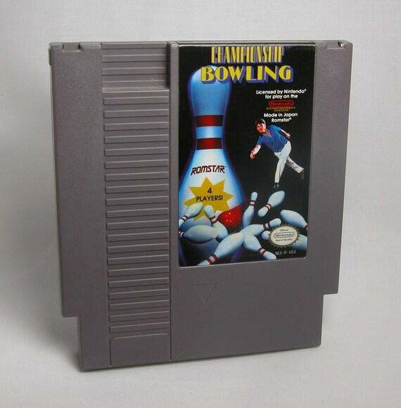 Vintage Nintendo Game Championship Bowling (NES) Romstar 8 bit 1991