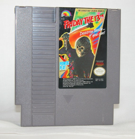Vintage Nintendo Game Friday The 13th (NES) By Ljn 8 bit 1989