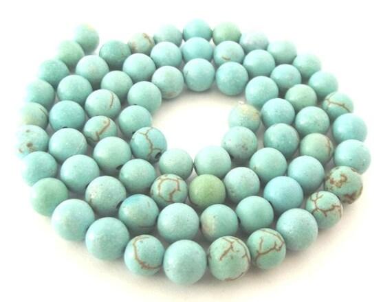 """Magnesite Beads, Light Blue, 5-6mm - 15"""" Strand"""