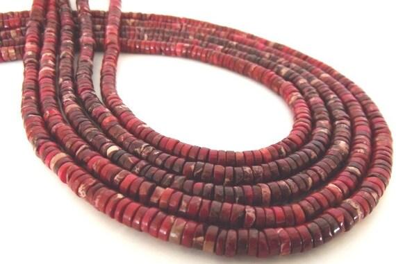 Red Sea Sediment Jasper Heishe Beads, 5mm - Half Strand