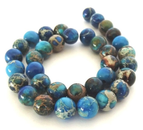 Aqua Terra Jasper Beads, Light Blue, 6mm Round Beads - Half Strand