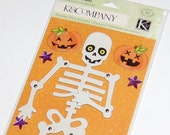 K&Company LARGE Jointed Halloween Skeleton Chipboard Accents
