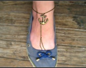 anchor anklet, anchor ankle bracelet, nautical anklet, anchor jewelry, anchor accessory, nautical jewelry