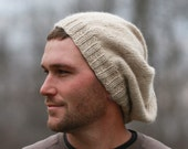 Very Slouchy Hat for Men in Super Soft  Alpaca CUSTOM ORDER