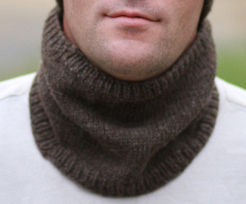 Mens Knitted Cowl Neck Warmer by AWalkInTheWoodsKnits on Etsy