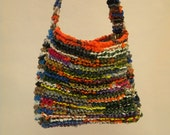 Hand-knitted Plarn Bag