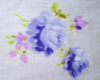 Half Yard Vintage Sheet Rose Print Fabric