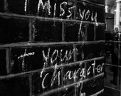 Street Photography - Black and White, 8x10 Print, Graffiti, London, England