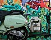 Graffiti Scooter Photography - Street Art - London, England - 8 x 10 Print