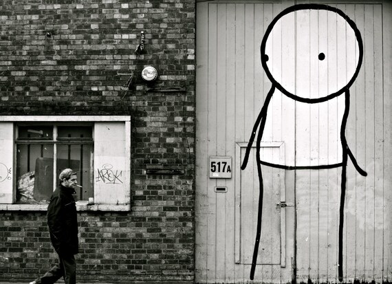 RESERVED FOR CATHY: 30 x 20 Black and White Stik Print