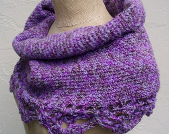 Purple Cowl Neckwarmer