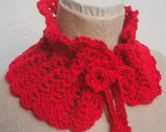 Red and Sparkles Neckwarmer