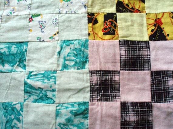 Vintage Flannel Quilt top